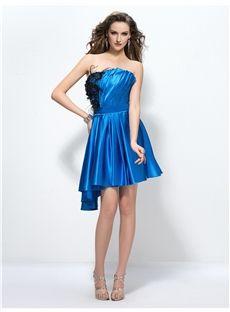 Prety A-Line Ruffles Zipper-Up Short/Mini Cocktail Dress