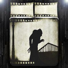 Vampire Nosferatu Duvet Cover Bedding Queen Size by DUVETCOVER