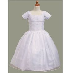 Lito Girls White Pearl Bodice First Communion Dress 5-14
