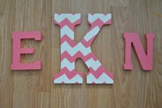 Monogram Wooden Letters Made to order by DreamThread on Etsy, $20.00