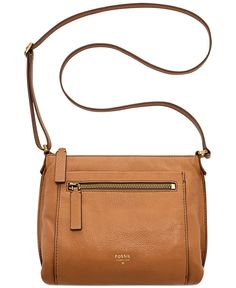 Fossil Vickery Leather Crossbody - Fossil - Handbags & Accessories - Macy's