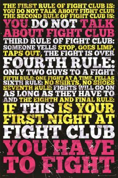 Fight Club - 8 Rules Láminas en AllPosters.es