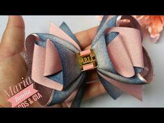 Laço Sonho Luxuoso by Maria Bonita #iniciantes - YouTube Diy Hair Bows, Diy Bow, Diy Ribbon, Ribbon Hair, Ribbon Bows, Diy Crafts Rose, Paper Cutting Patterns, Scarf Knots, Satin Ribbon Flowers