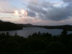 Views across the Loch Assynt from the bedrooms, dining and sitting room.
