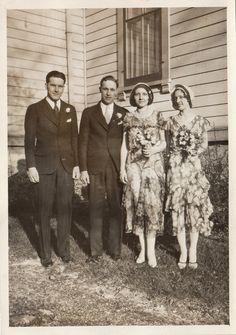 Original Vintage Photograph Men Women Bride & by RenascenceVintage