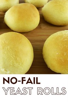 These No-Fail Yeast Rolls are easy to make, and they freeze beautifully. Perfect for holiday dinners or soup nights. These No-Fail Yeast Rolls are easy to make, and they freeze beautifully. Perfect for holiday dinners or soup nights. Easy Yeast Rolls, Bread Rolls, Easy Rolls, Buttery Rolls, Dinner Rolls Recipe, Food Stands, Bread Baking, Yummy Food, Tasty