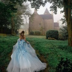 Coloured dresses also seem to be a growing trend – and we're totally in love with that! 💕 Double tap if this could be your dream dress … . Photo by . Fantasy Photography, Photography Poses, Fantasy Magic, Fairytale Gown, Princess Aesthetic, Quince Dresses, Fantasy Dress, Beautiful Gowns, Bob Marley