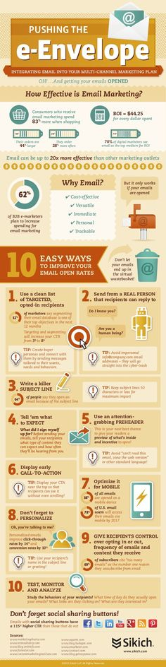 Email Marketing - 10 Easy Ways to Improve Your Email Open Rates [Infographic] : MarketingProfs Article