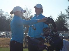 Natalie Wille (left) and Head Coach Kory Thompson at Forest Hills