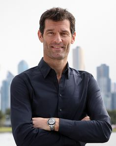 Australian racing driver Mark Webber wearing his 904L steel Rolex Cosmograph Daytona.