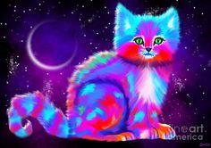 Starlight Kitten Painting