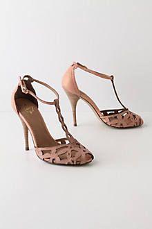 Shimmering Trellis Heels