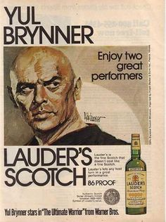 Love Yul Brynner. Lauder's 86 Proof Blended Scotch Whisky (1975)