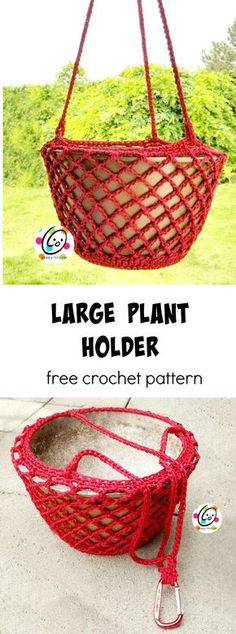 Free Pattern: Large Plant Holder ~ Snappy Tots