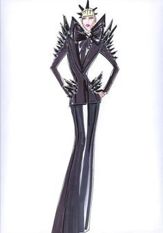 Lady Gaga is known for her stylish dresses that catch everybody's attention , at the 2010 MTV Video Music Awards one of Lady Gaga's three outfits included a Fashion Illustration Sketches, Fashion Sketches, Stylish Dresses, Fashion Dresses, Lady Gaga Outfits, Flat Drawings, Races Outfit, Student Fashion, Fashion Portfolio