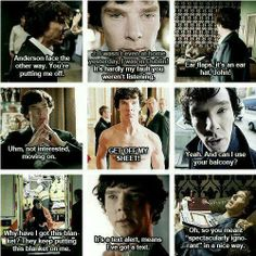 Best Sherlock lines- bet it is hard for Ben to keep a straight face during some of his lines though ;)