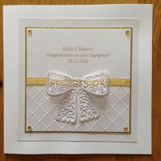 Tattered Lace Engagement card