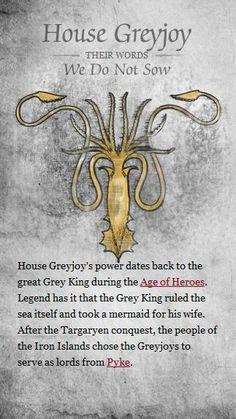 House Greyjoy (Game of Thrones) #got #agot #asoiaf
