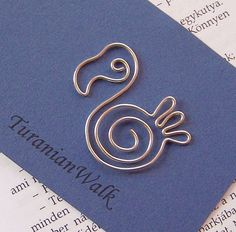 Dodo wire bookmark di TuranianWalk su Etsy