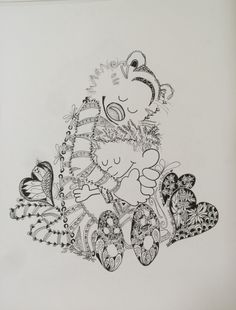Zentangle Instpired Art by Laurie of Zen Drawing Club