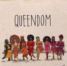 Queendom Afro art
