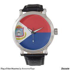 Flag of Sint Maarten Wristwatch