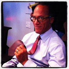 Lester Holt prepares for an episode of NBC Nightly News