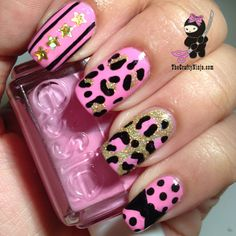 Pink Leopard Print #Nails