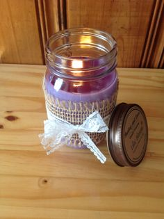 SALE- Scented Soy Wax Candles, Burlap and Lace Candles, Mason Jar Candles, 16 Oz Jar Candles, Wedding Decor, Housewarming Gift, Teacher Gift by BurlapandLaceCandles on Etsy https://www.etsy.com/listing/158568502/sale-scented-soy-wax-candles-burlap-and