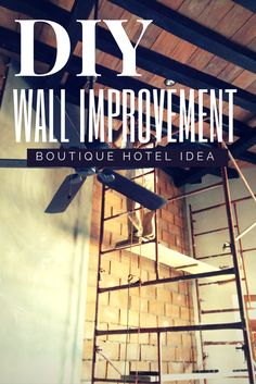 DIY: A possible solution for a big bland white wall. Here's our wall of improvement when tasked with figuring out a better way to stylize our restaurant in Mazatlan, Mexico.