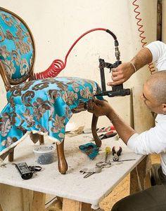 DIY Chair Reupholstering #ReupholsterChair