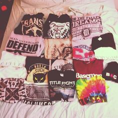 """Not really fitting with all the other clothes in here, but I wear so much band merch. And I need to find """"prettier"""" ways to wear them all I guess."""