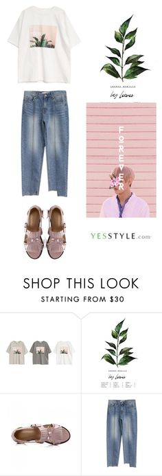 """""""www.yesstyle.com"""" by thefashionaccounts ❤ liked on Polyvore featuring Goroke, JY Shoes, Spring, casual, korean and yesstyle"""