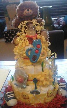 Diaper Cake - Baby shower ideas