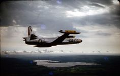 F-94 Starfire over the finger lakes of New York.