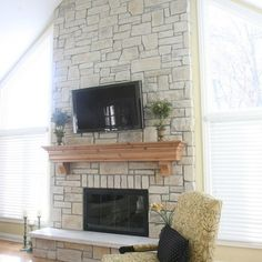 Fireplaces On Pinterest Whitewash Stone Fireplaces And Fireplaces