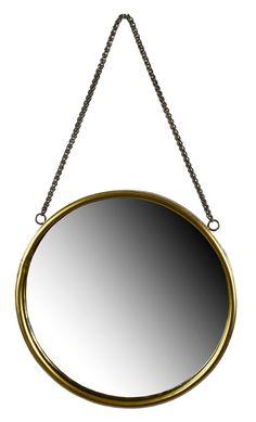 Köp VANITY Spegel mässingsram m kedja 40x3.5x69cm - Stort utbud hos EM.com