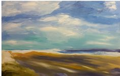 """Sweeping Waters  Oil on canvas 72"""" x 68"""" sold"""