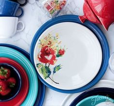 Fiesta Dinnerware introduces a new decorated pattern for 2017 - Floral Bouquet. Learn more at http://www.alwaysfestive.com.
