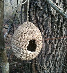 PDF Crochet Pattern for Hemp Birdhouse