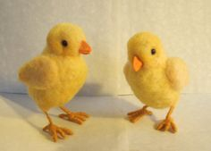 needle-felted baby chick | Needle Felted Chick Baby, Felt Spring Chick, Needle Felted Chicken