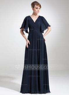 Mother of the Bride Dresses - $136.99 - Empire V-neck Floor-Length Chiffon Mother of the Bride Dress With Ruffle (008006475) http://jjshouse.com/Empire-V-Neck-Floor-Length-Chiffon-Mother-Of-The-Bride-Dress-With-Ruffle-008006475-g6475?ver=xdegc7h0
