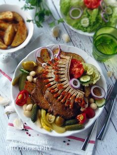 Cigánypecsenye Hungarian Food, Hungarian Recipes, Ratatouille, Food And Drink, Pork, Sweets, Ethnic Recipes, Pork Roulade, Sweet Pastries