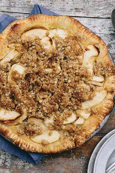 Buttermilk Apple Pie with a Streusel Crust Recipe