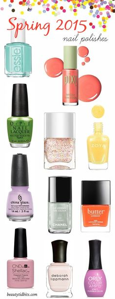 Put a spring in your step with the hot new fresh & juicy Spring 2015 nail polish colors!
