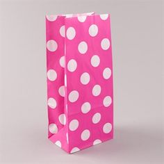 Blockbodenbeutel  Pick` n Mix weiß auf rosa gepunktet