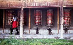 A Nomadic Spirit Travelogue Entry from the China by Bike Travelogue: Patrick experiences the divine while walking the prayer wheels at Labrang lamasery at Xiahe. Describe Me, Spiritual Awakening, Pilgrim, Cool Words, Paths, Prayers, Wheels, Spirituality, China