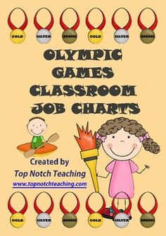 This Olympic Games theme pack includes 16 different classroom jobs that you can assign to your students.