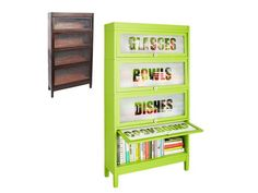 Turn a Barrister Bookcase Into a Kitchen Organizer in Flea Market Flips from HGTV