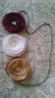 Collar con flores de Organza!!!